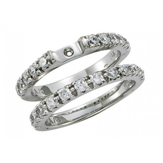 Classic Style Engagement Ring with Fishtail Set Diamond Band