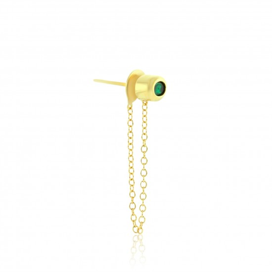 0.34 Carat Natural Colombian Emerald Earring