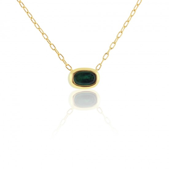 1.12 Carat Natural Colombian Emerald Pendant in 18K Yellow Gold