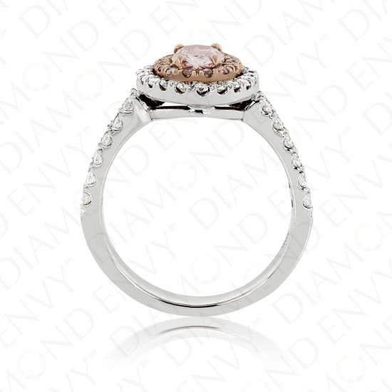 1.32 Carat Fancy Light Purplish Pink Diamond Ring in 18K White Gold