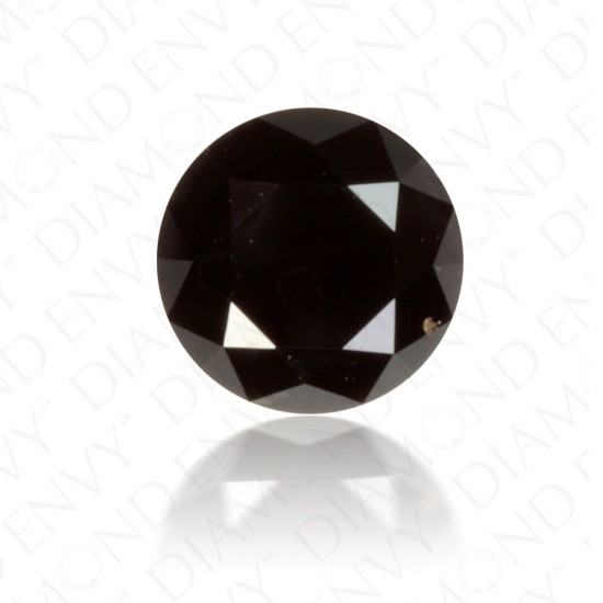 1.25 Carat Round Brilliant Natural Fancy Black Diamond