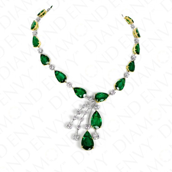 83.45 Carat Natural Emerald Necklace