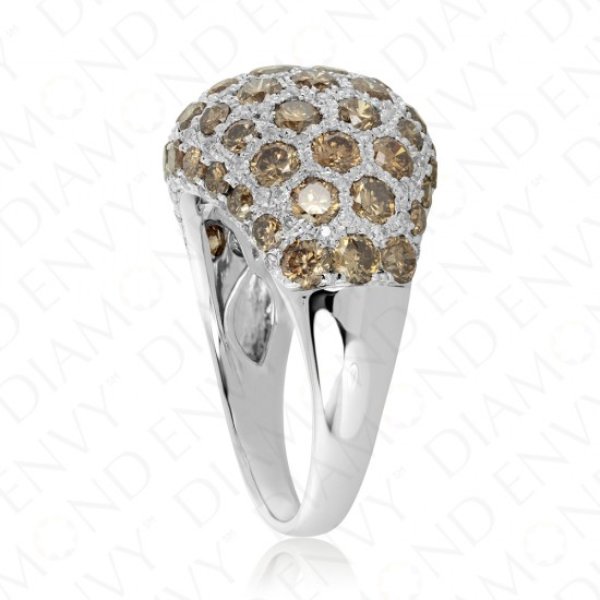 3.39 Carat Brown Diamond Ring in 14K White Gold