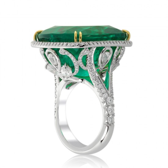 34.11 Carat Colombian Emerald Ring