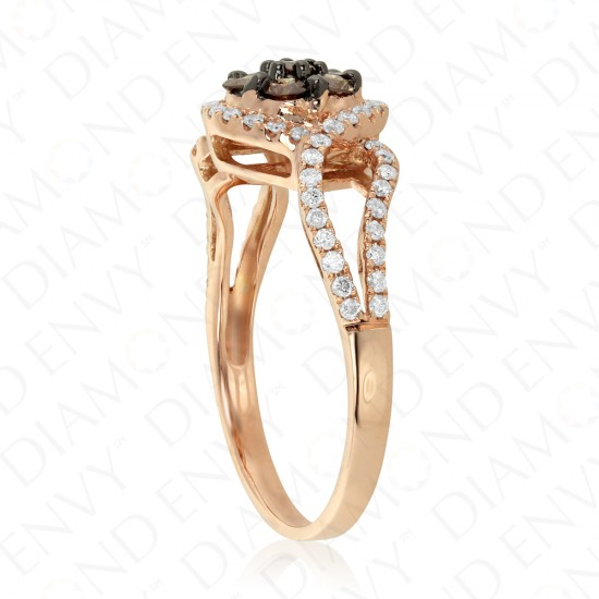 0.64 Carat Brown Diamond Ring in 14K Rose Gold