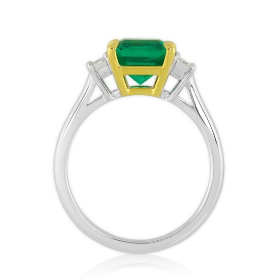 2.68 Carat Natural Emerald and Diamond Ring