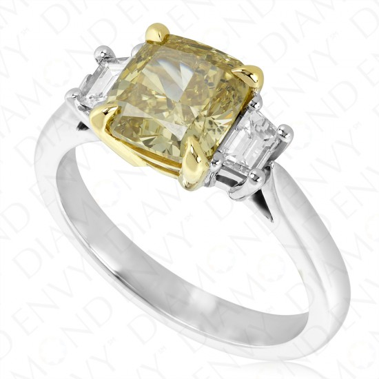 fancy sku diamond yellow d diamonds carat cushion shape brownish