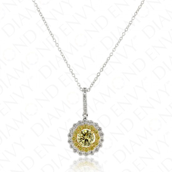 Sunshine Yellow Diamond Pendant