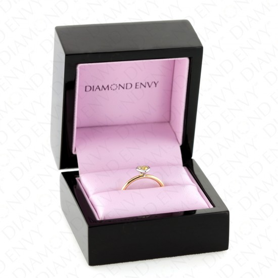 Heart Shaped Yellow Diamond Solitaire Ring