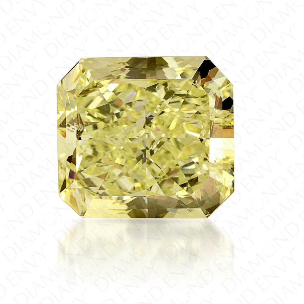 6.64 Carat Radiant Cut Natural Fancy Yellow Diamond