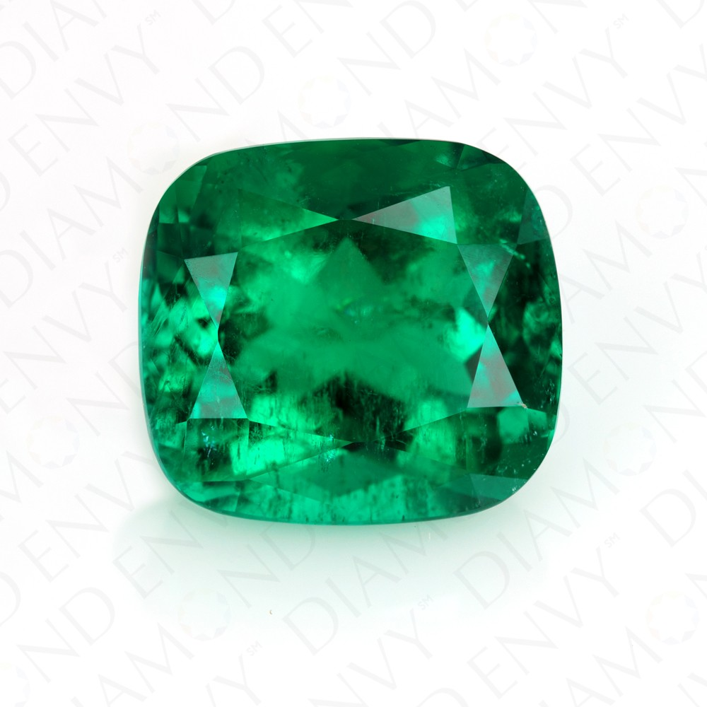 32.42 Carat Natural Cushion Cut Emerald
