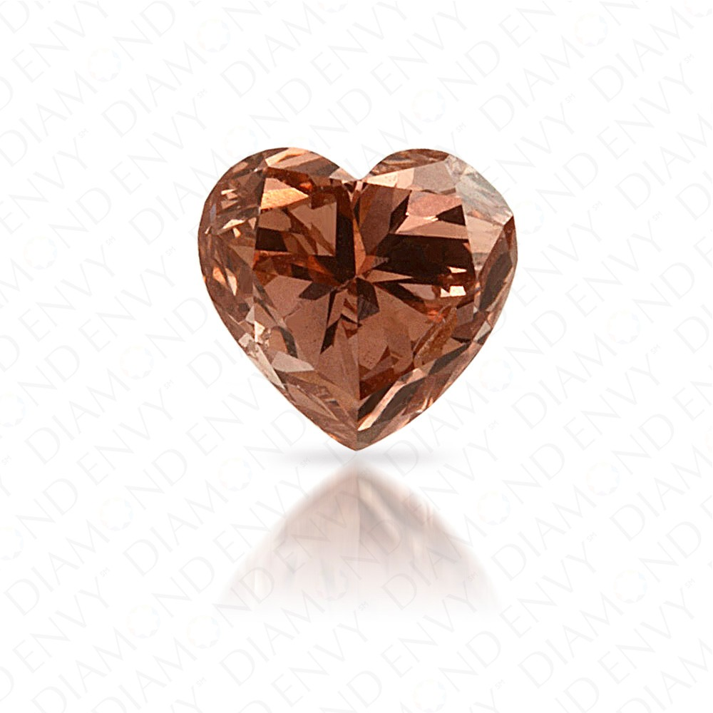 0.46 Carat Heart Shape Natural Fancy Deep Brown-Pink Diamond