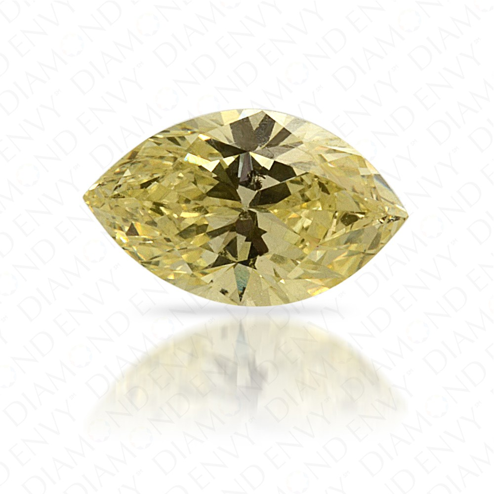 0.42 Carat Marquise Natural Fancy Yellow Diamond