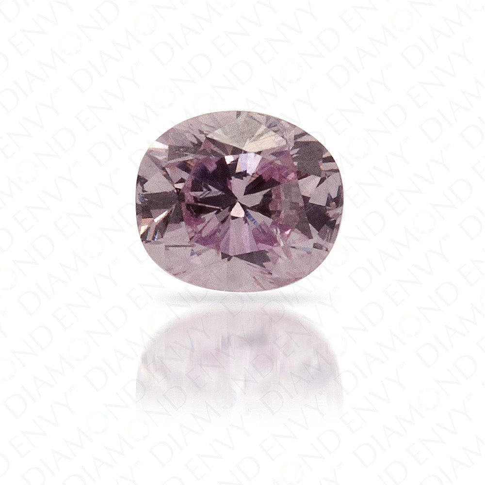 0.13 Carat Cushion Natural Fancy Pink-Purple Diamond