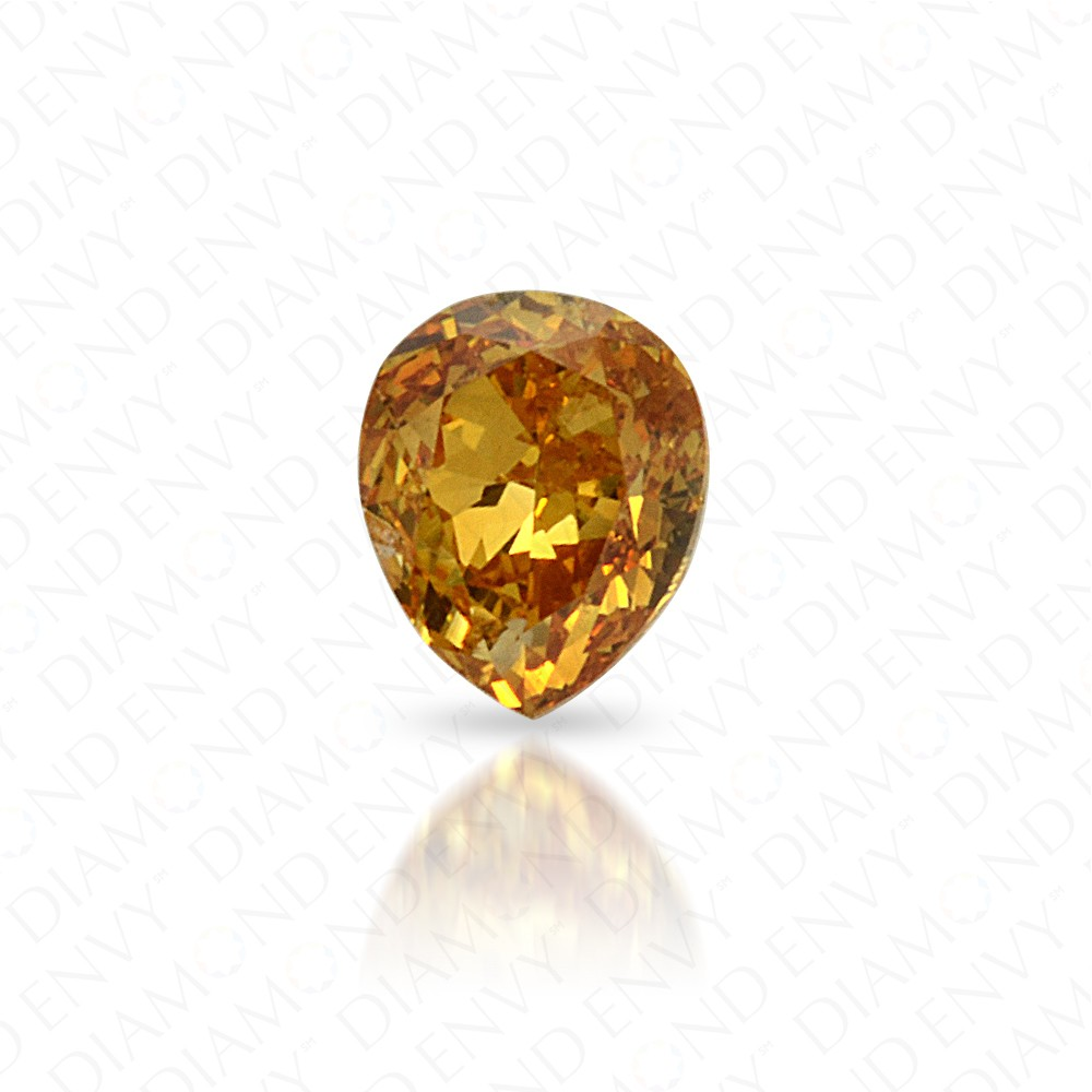 0.11 Carat Natural Fancy Intense Orange-Yellow Diamond
