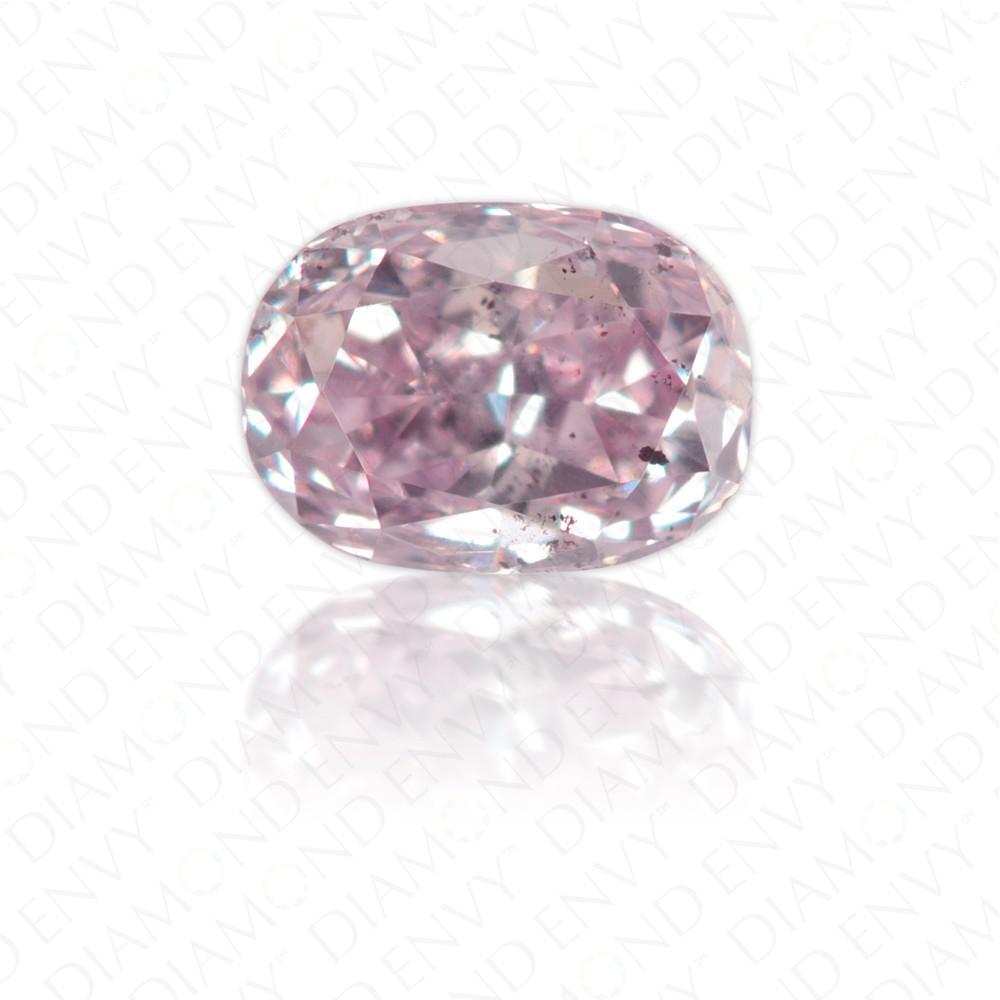 0.19 Carat Oval Natural Fancy Purple-Pink Diamond