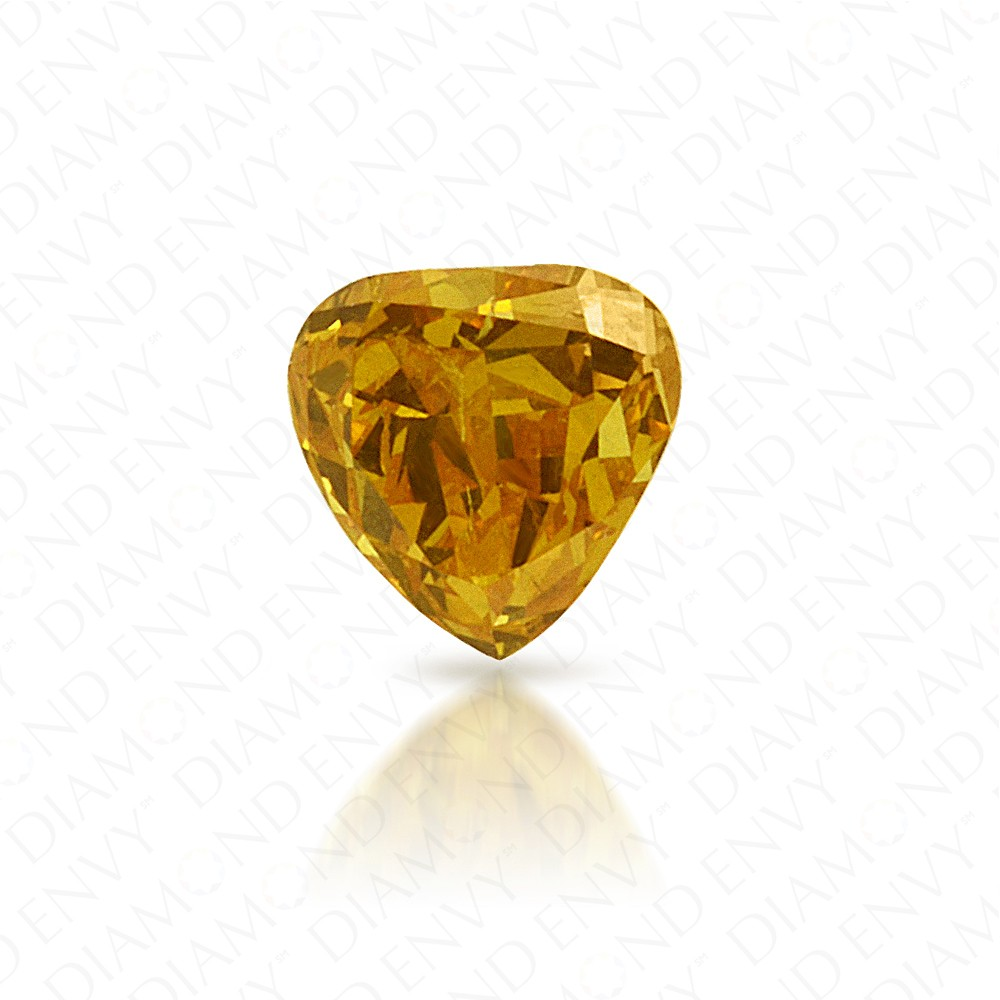0.24 Carat Heart Shape Natural Fancy Vivid Orange-Yellow Diamond