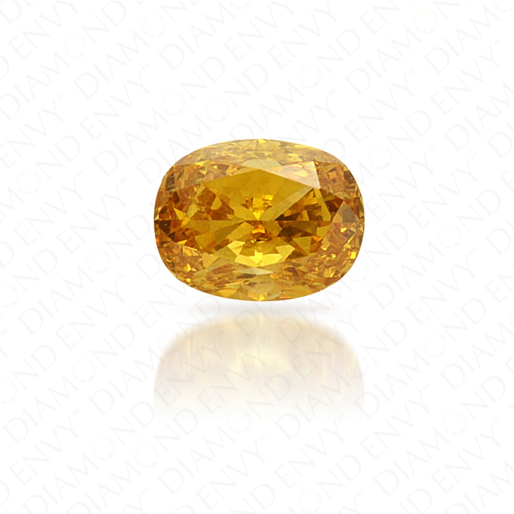 0.25 Carat Oval Natural Fancy Intense Orange-Yellow Diamond