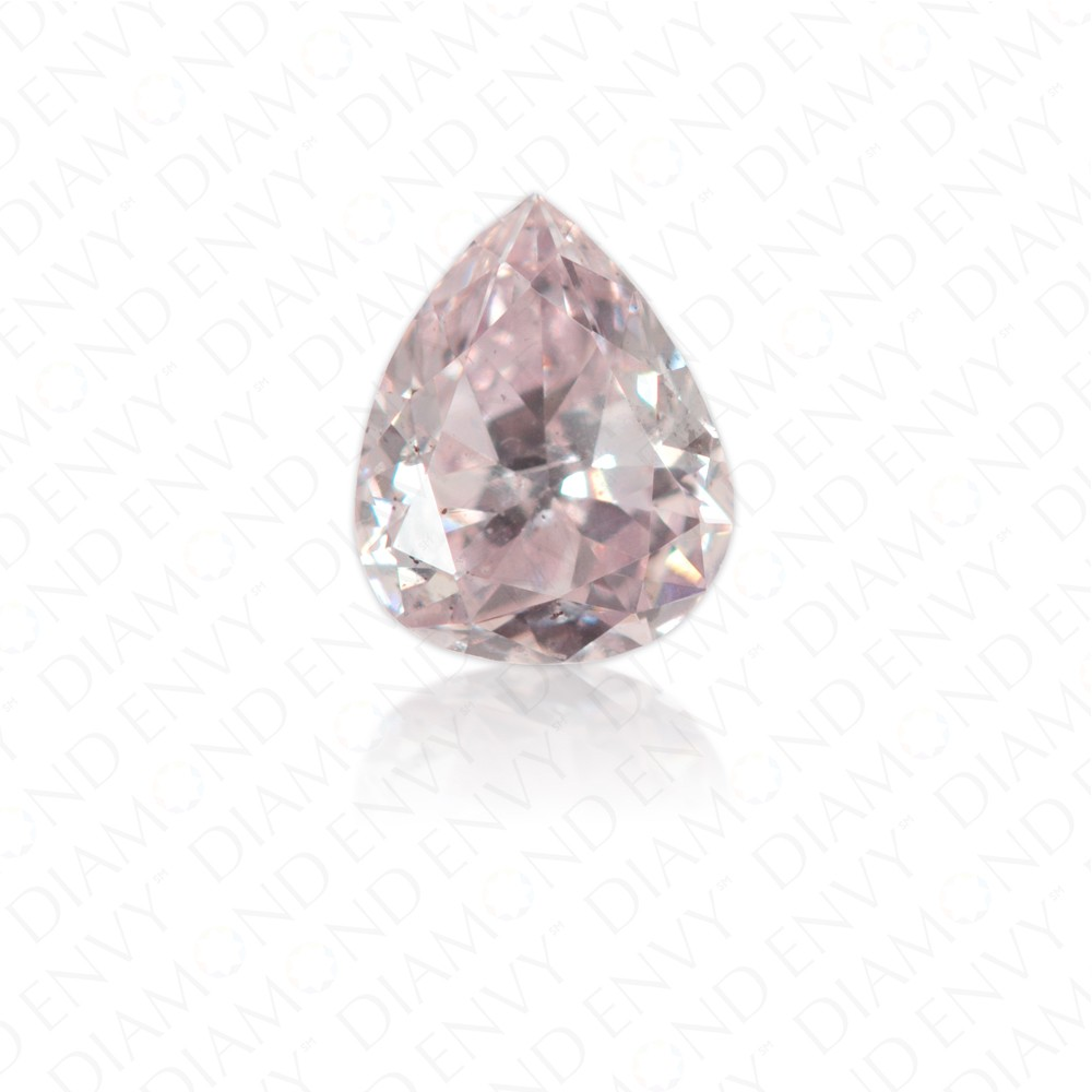 0.21 Carat Pear Shape Natural Fancy Light Purplish Pink Diamond