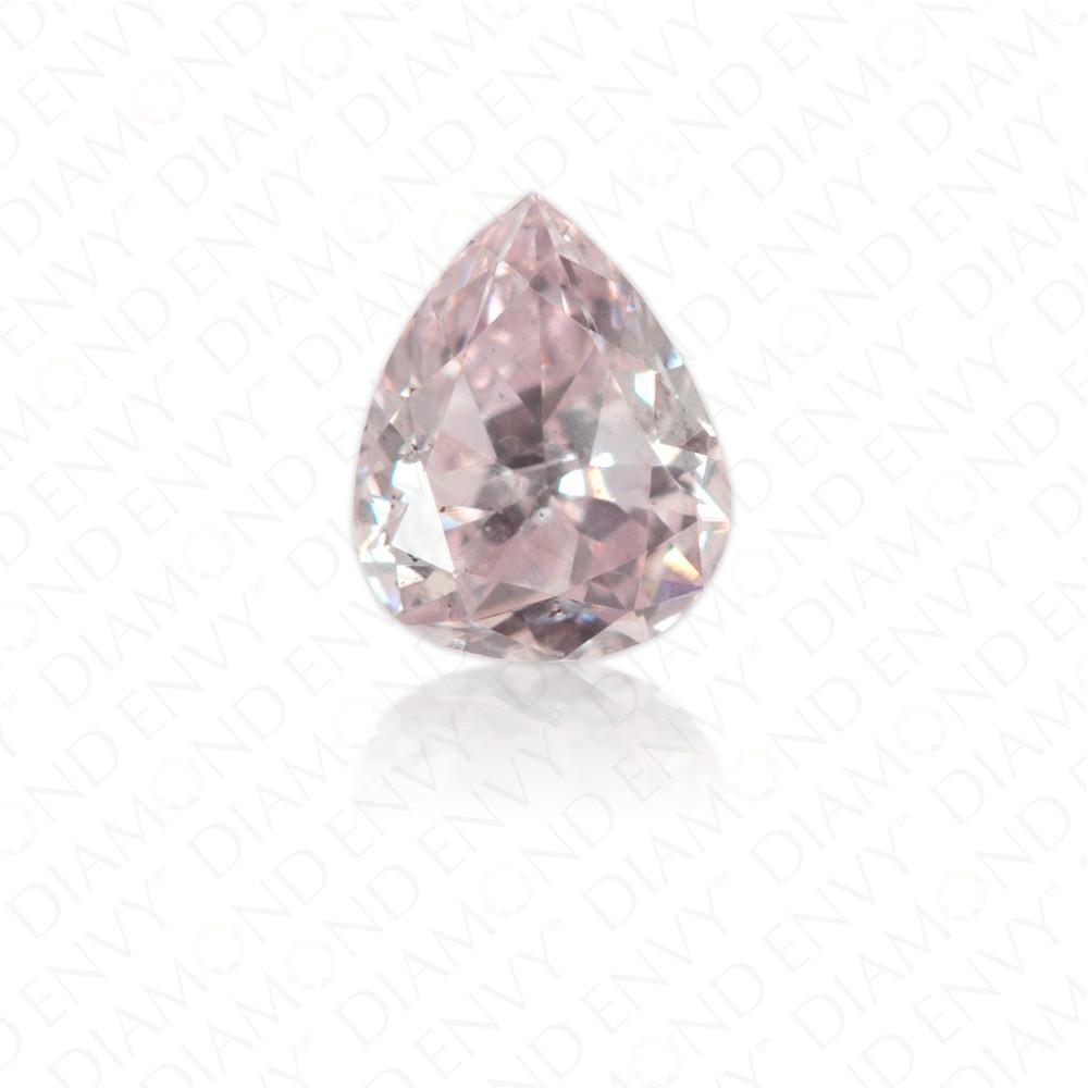 0.21 Carat Pear Shape Natural Fancy Light Purplish Pink Diamond