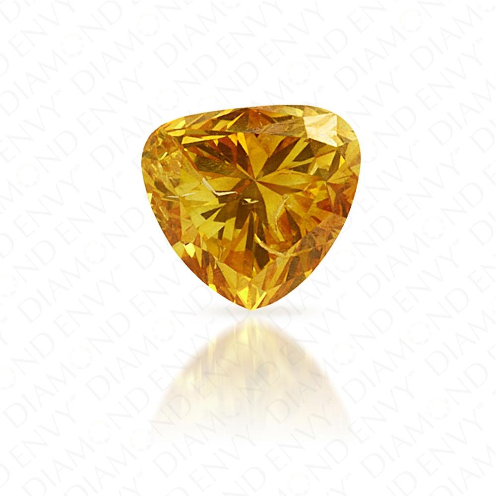 0.38 Carat Heart Shape Natural Fancy Intense Orange-Yellow Diamond