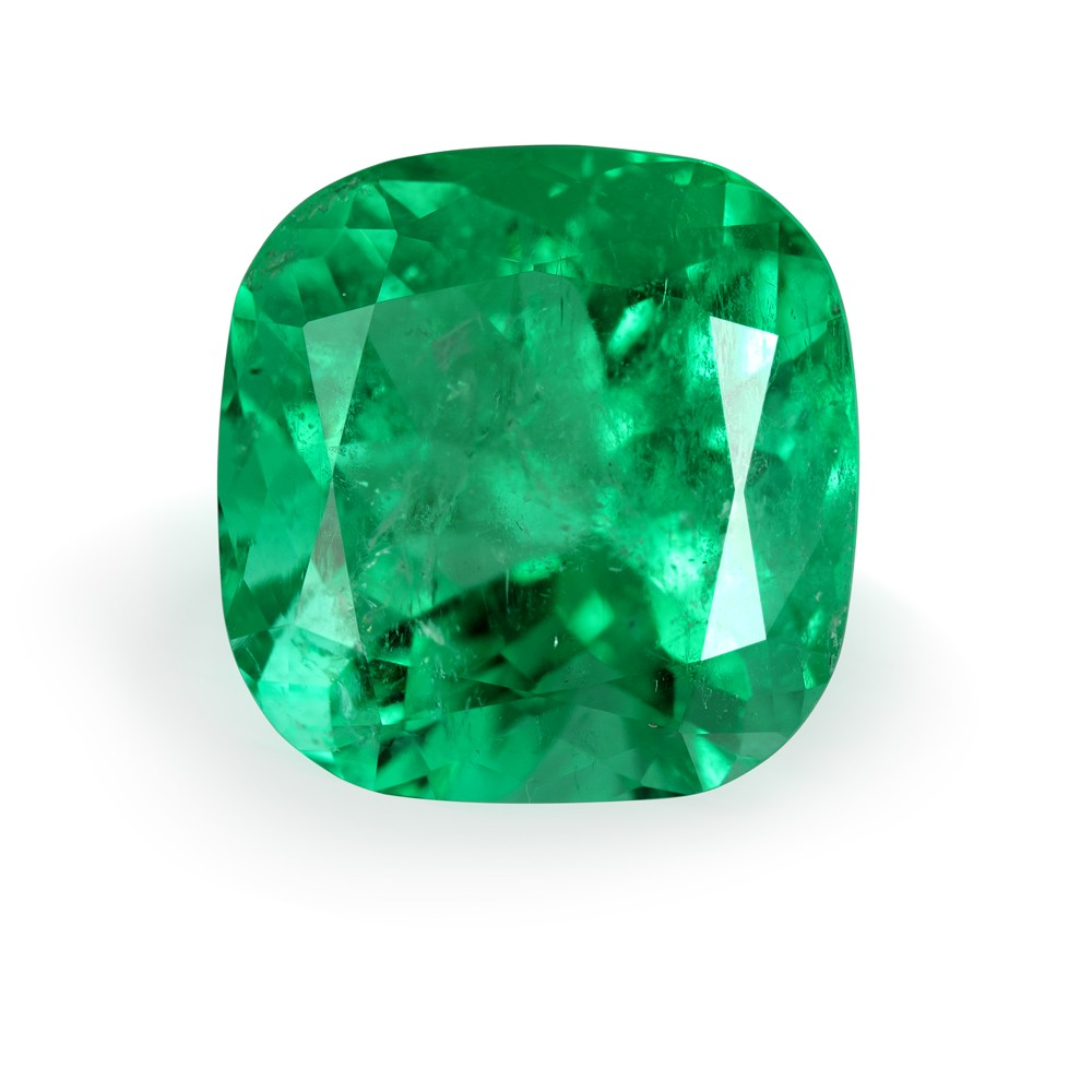 19.18 Carat Cushion Cut Natural Emerald