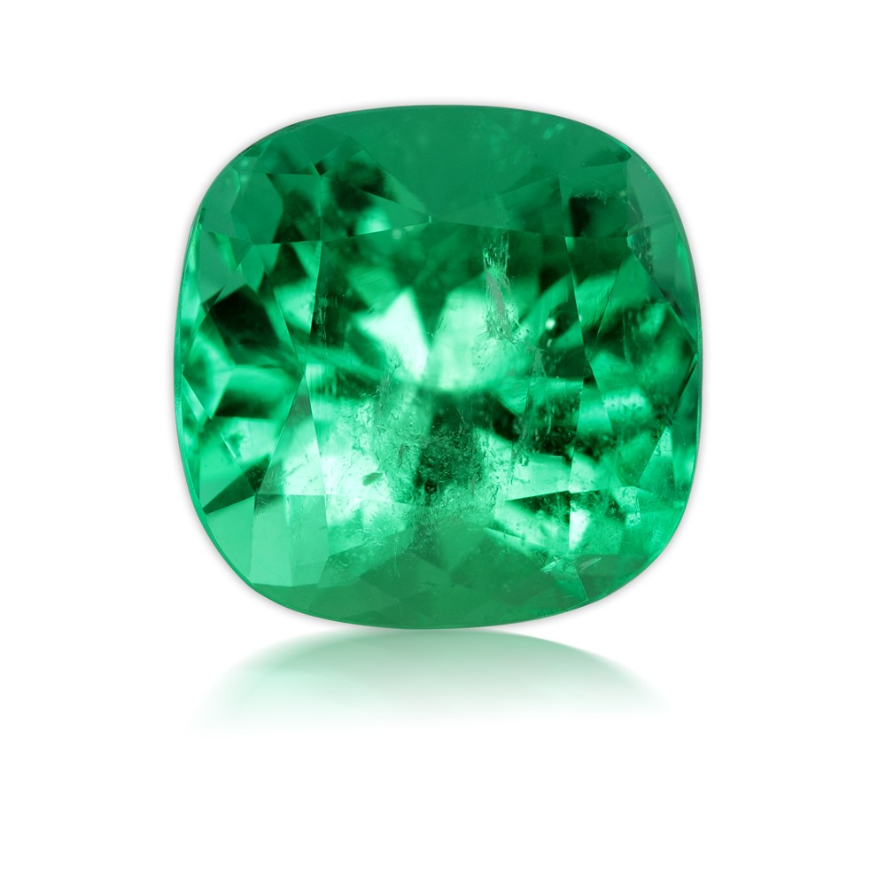 11.31 Carat Cushion Cut Natural Emerald