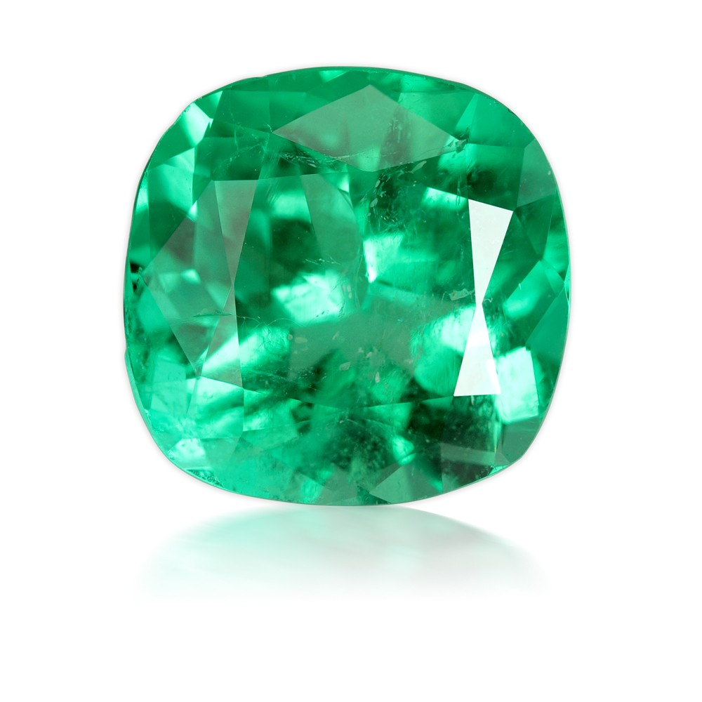 11.30 Carat Cushion Cut Natural Emerald