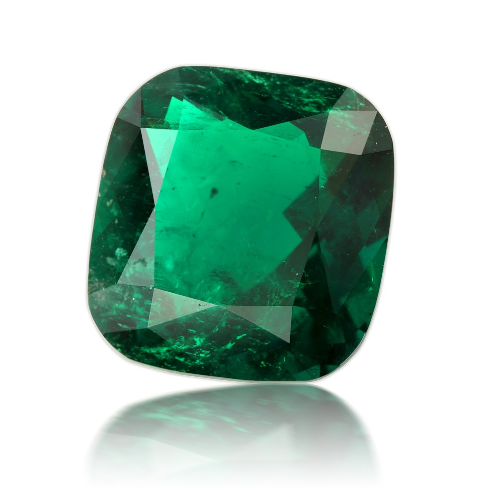 15.37 Carat Cushion Cut Natural Emerald