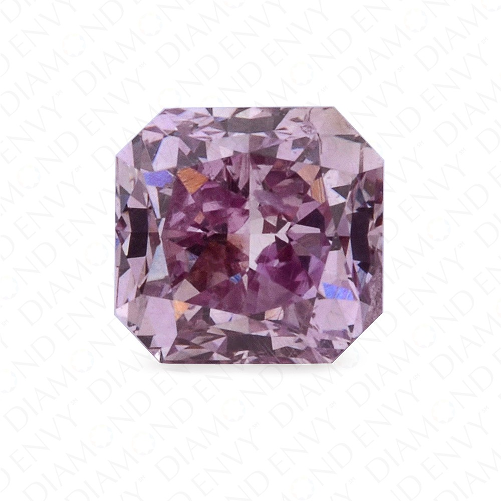 0.31 Carat Radiant Cut Natural Fancy Intense Purple-Pink Diamond