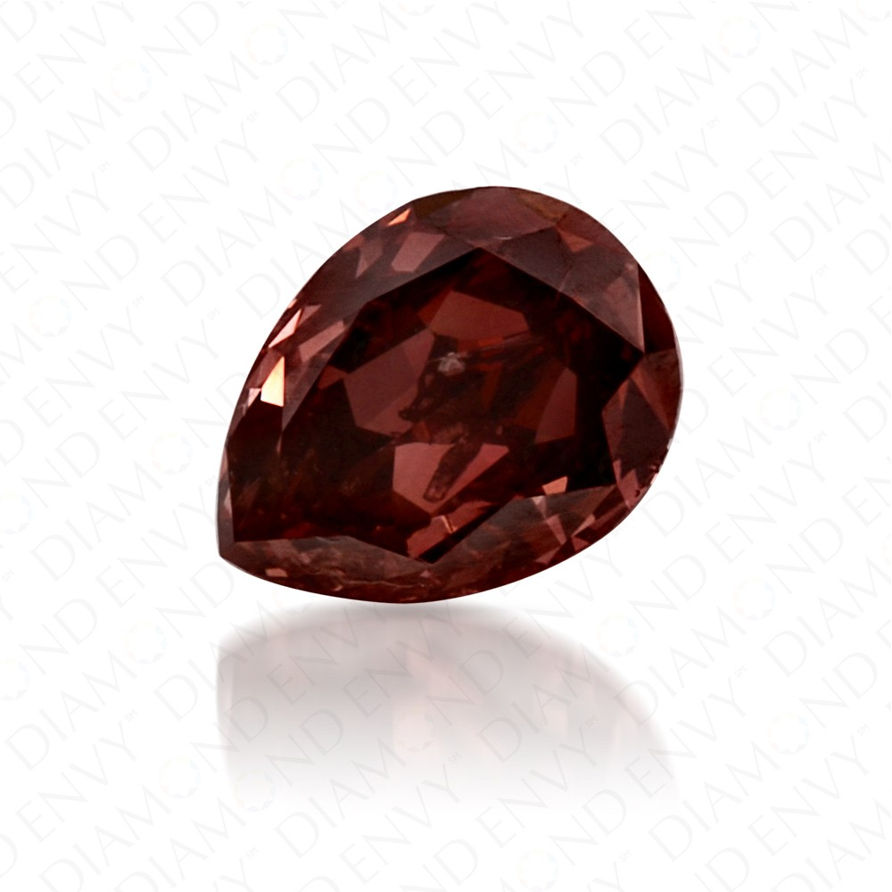 0.38 Carat Pear Shape Natural Fancy Deep Brown-Pink Diamond