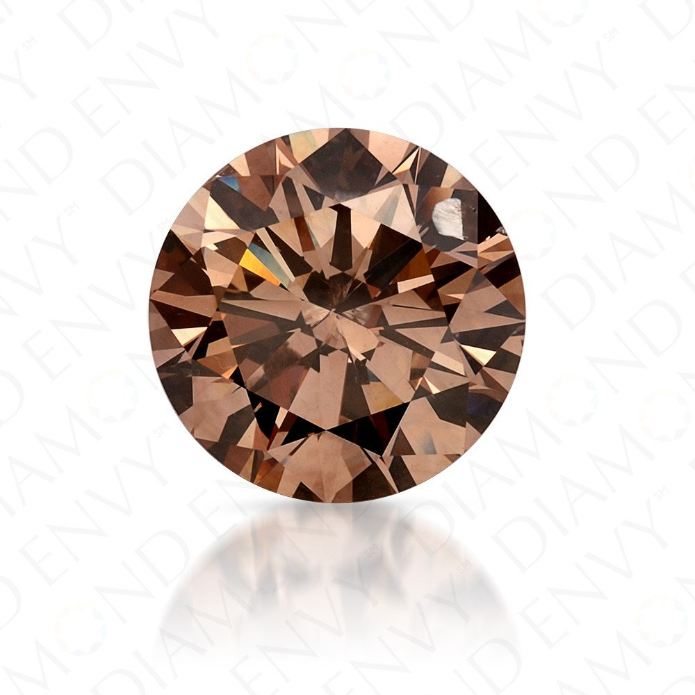 fancy brownish carat diamond clarity color peach products round loose brown light brilliant