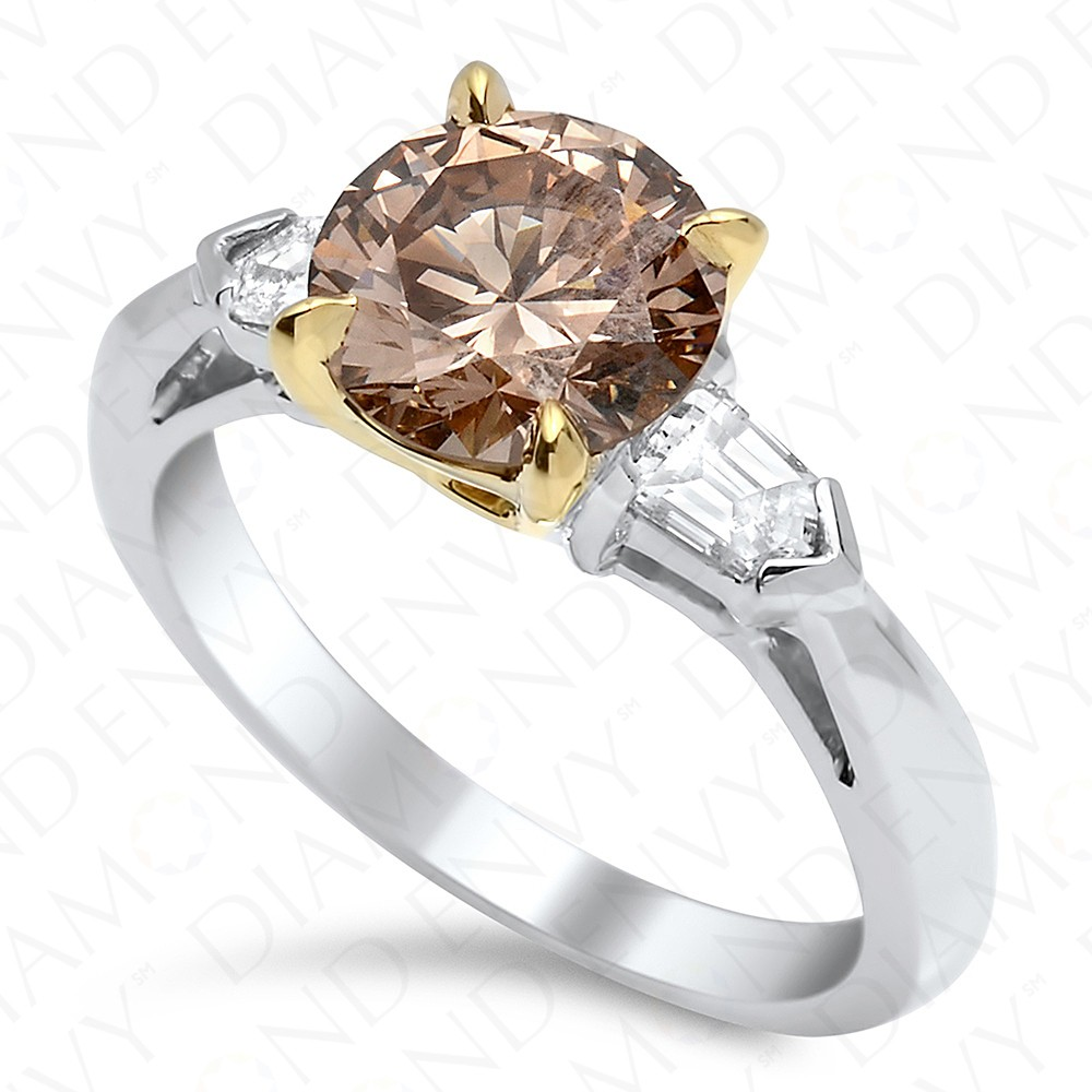 202 Carat Fancy Brown Diamond Ring In 18k White Gold