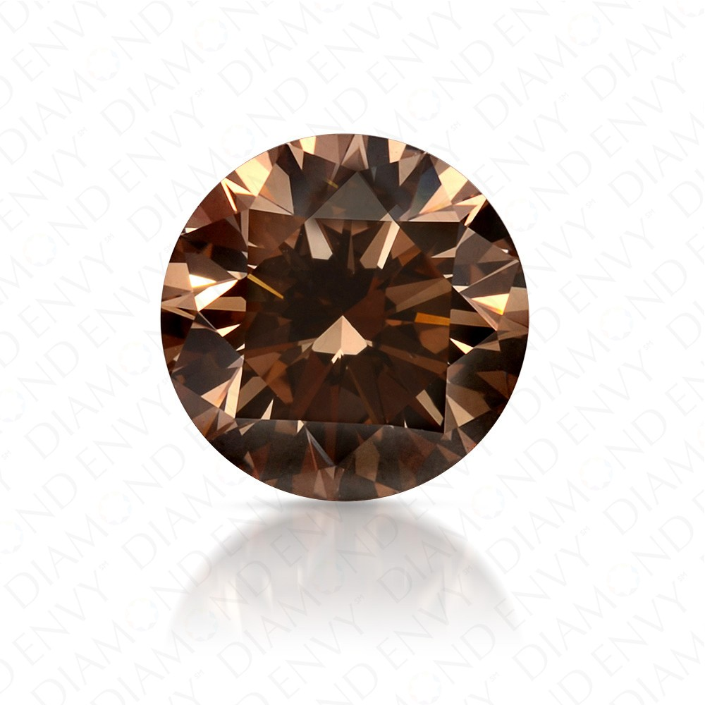 1.79 Carat Round Brilliant Fancy Yellowish Brown Diamond