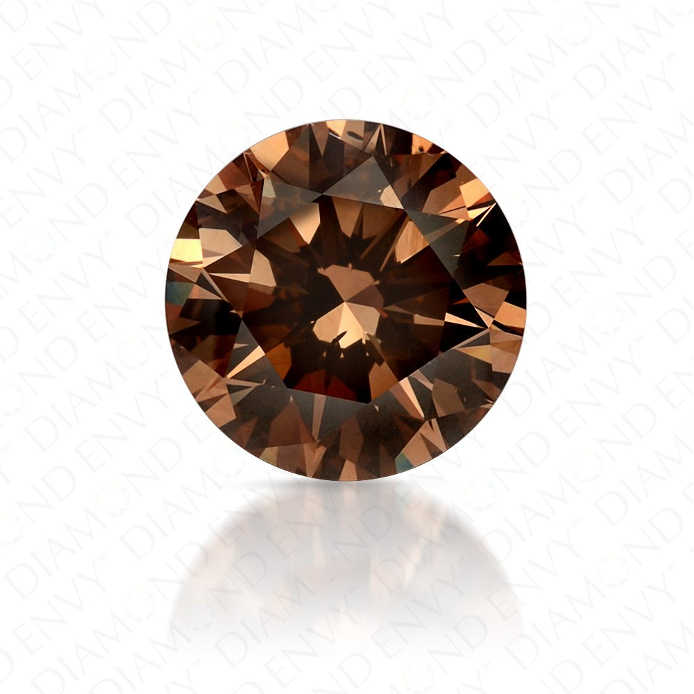 1.80 Carat Round Brilliant Fancy Yellow-Brown Diamond