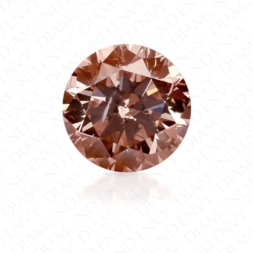 1.24 Carat Round Brilliant Fancy Pink-Brown Diamond