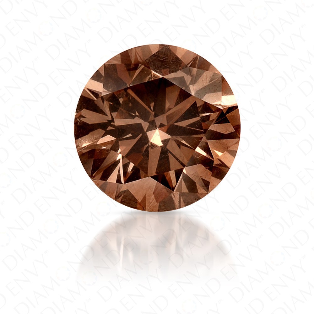 1.51 Carat VS1 Round Brilliant Fancy Orange-Brown Diamond