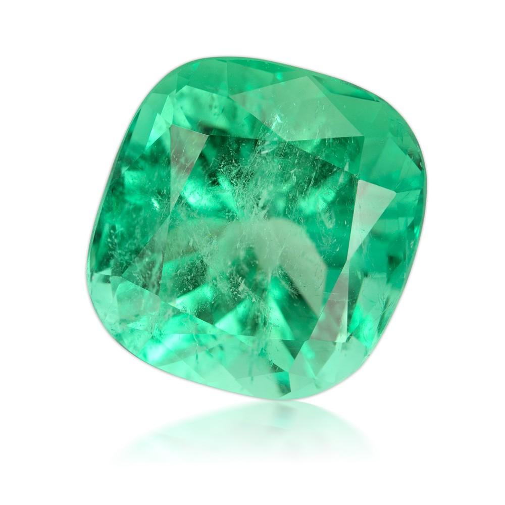 14.62 Carat Cushion Cut Natural Emerald