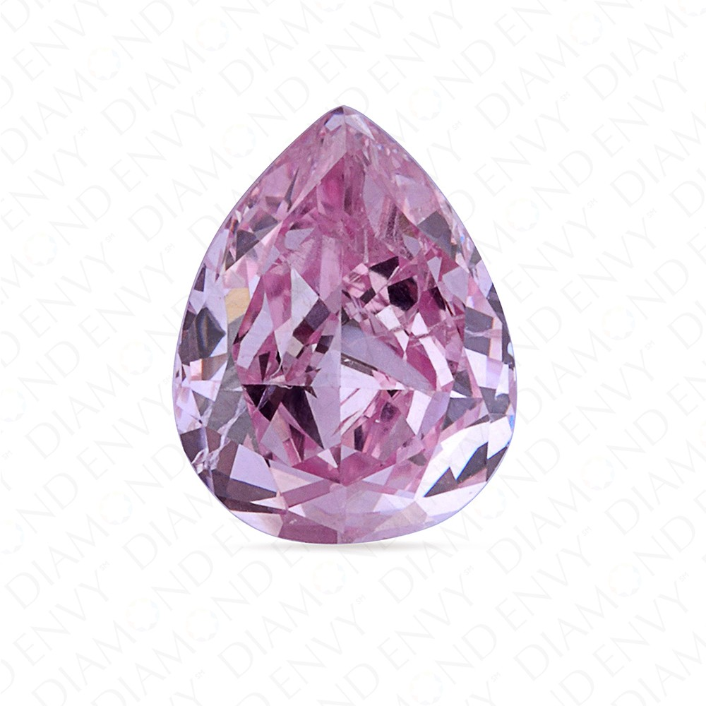 0.30 Carat Pear Shape Natural Fancy Intense Purplish Pink Diamond