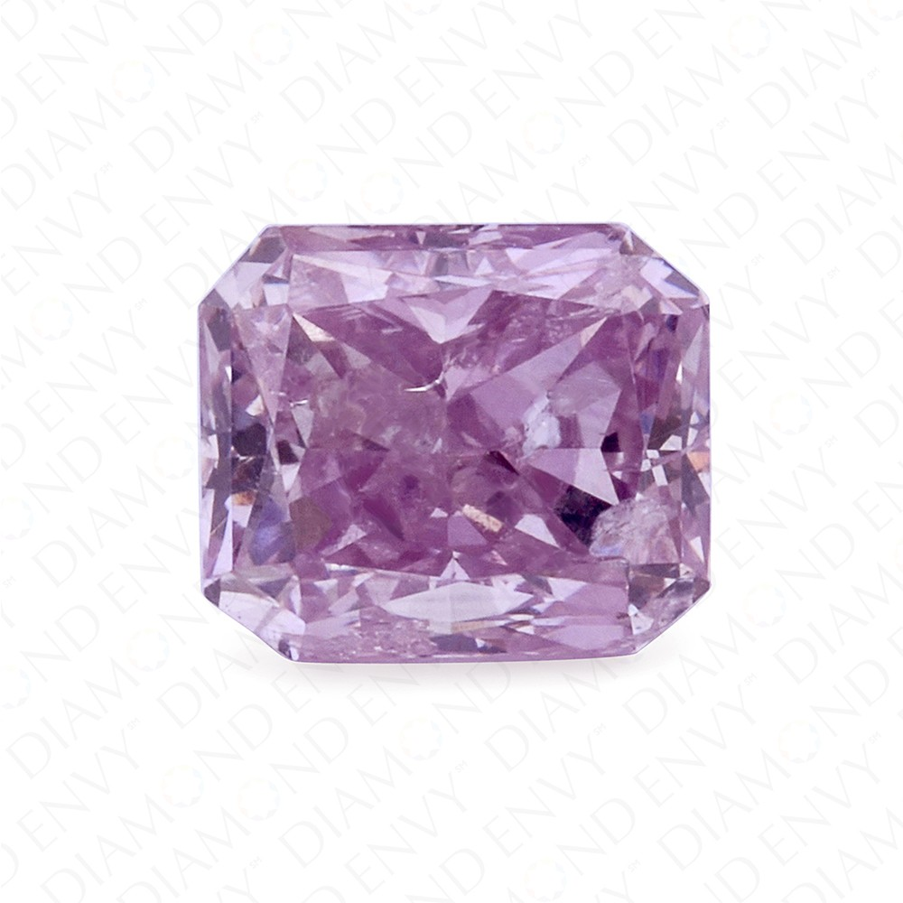 0.41 Carat Radiant Natural Fancy Pink-Purple Diamond