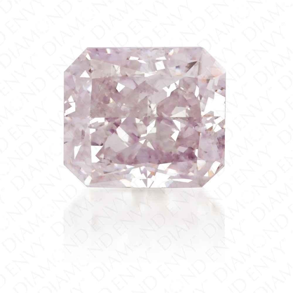0.52 Carat Radiant Natural Light Pink Diamond