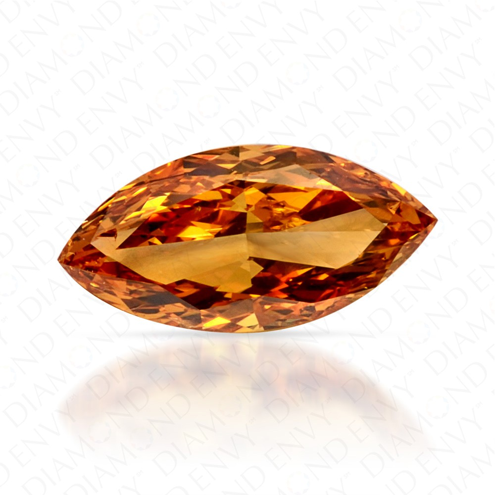 0.51 Carat Marquise Fancy Vivid Yellow-Orange Diamond