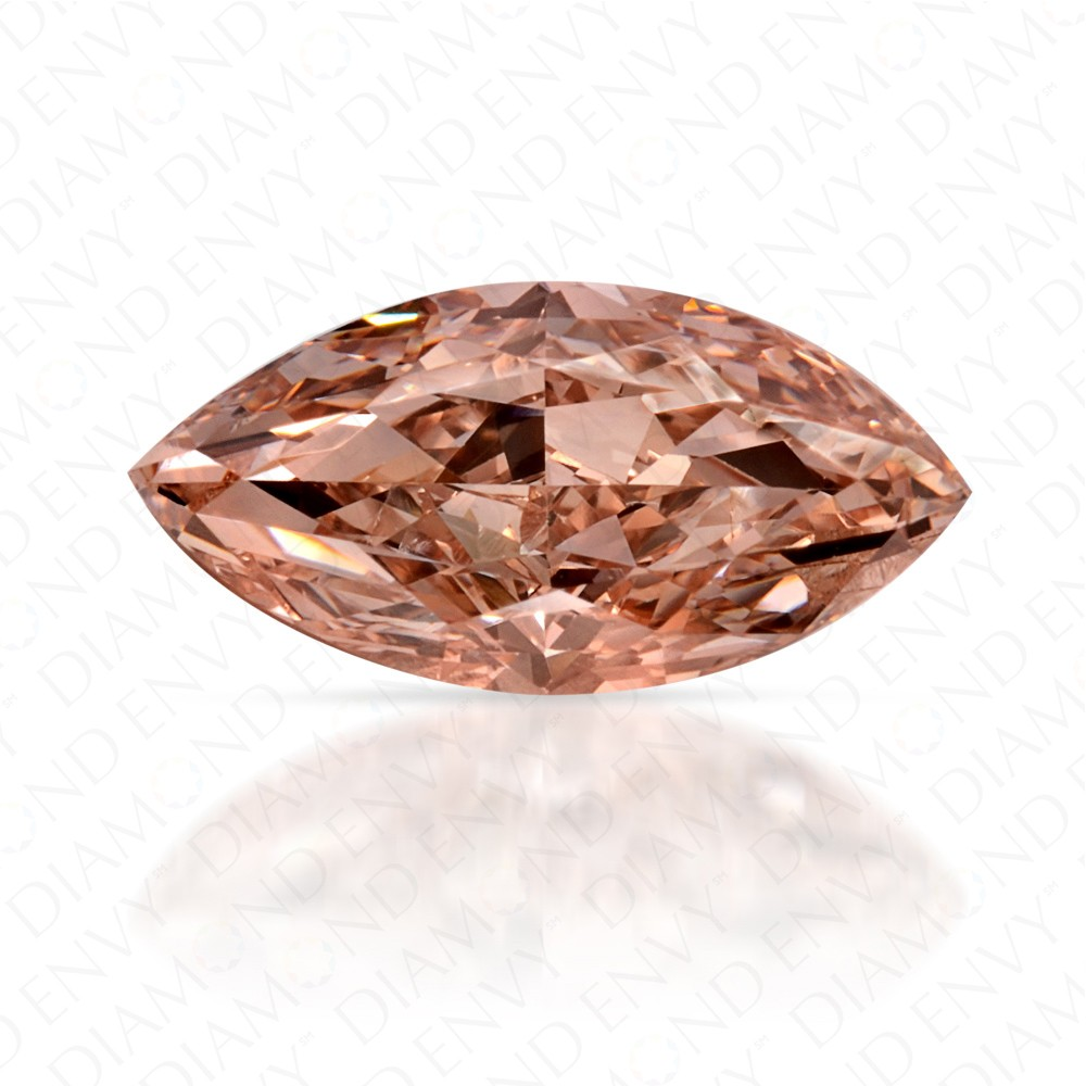 0.72 Carat Marquise Fancy Brown-Pink Diamond