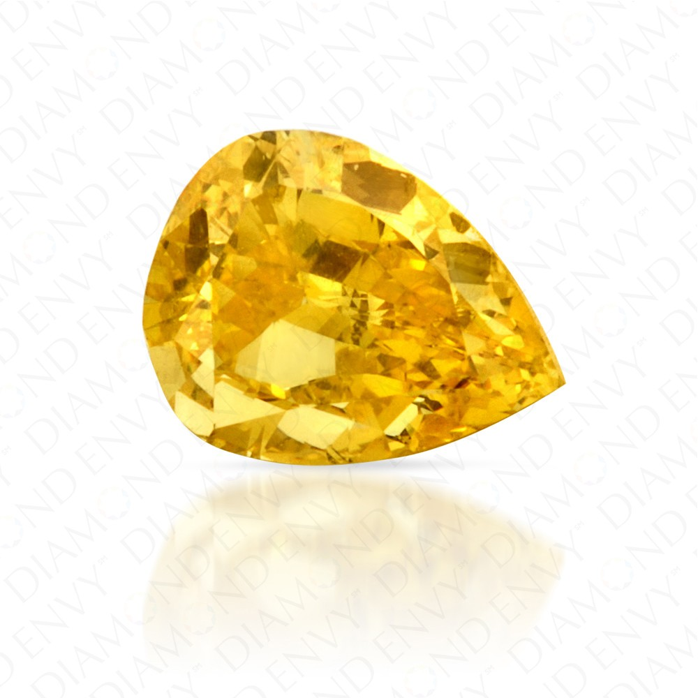 0.50 Carat Pear Shape Fancy Vivid Yellow Diamond