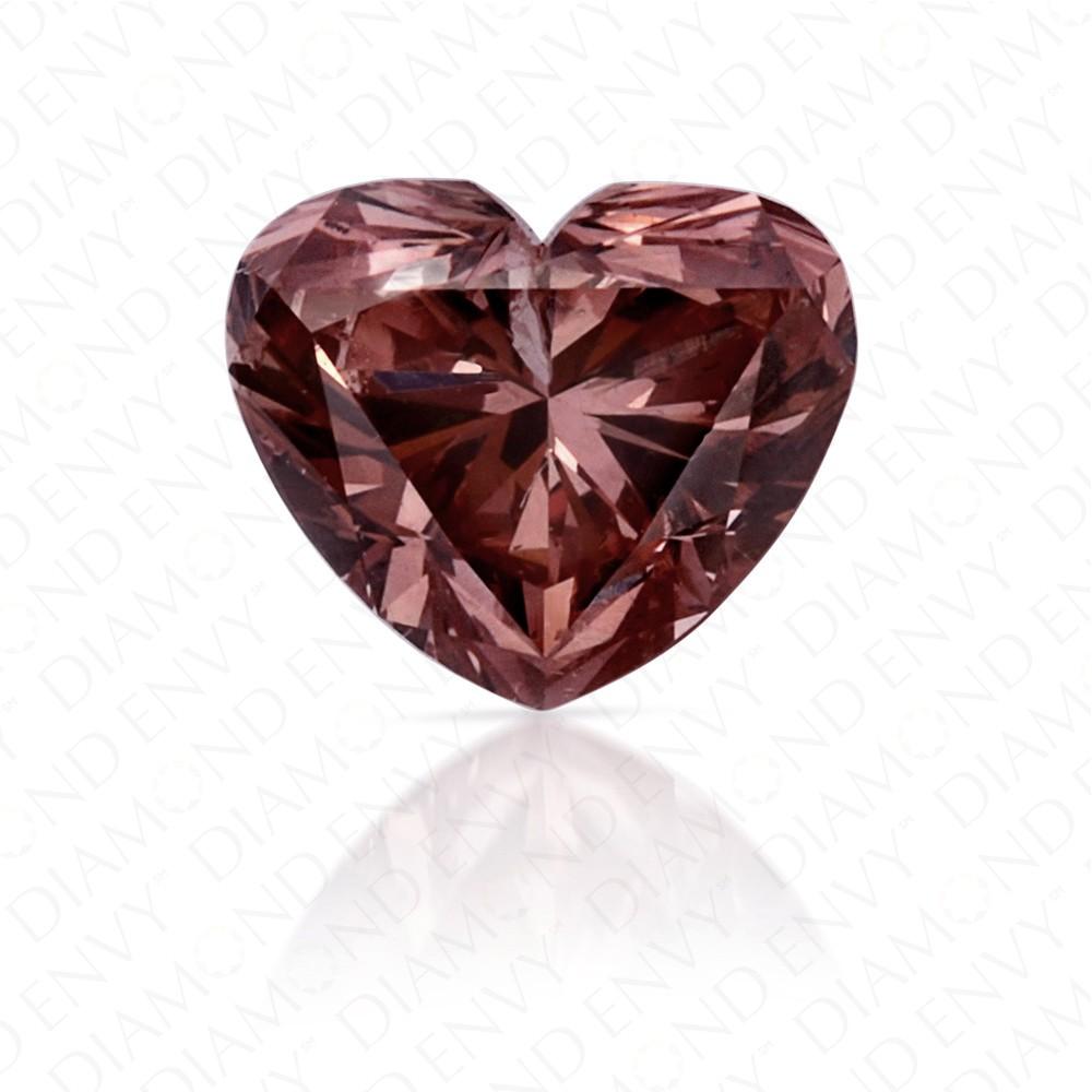 0.37 Carat Heart Shape Natural Fancy Deep Brownish Orangy Pink Argyle Diamond