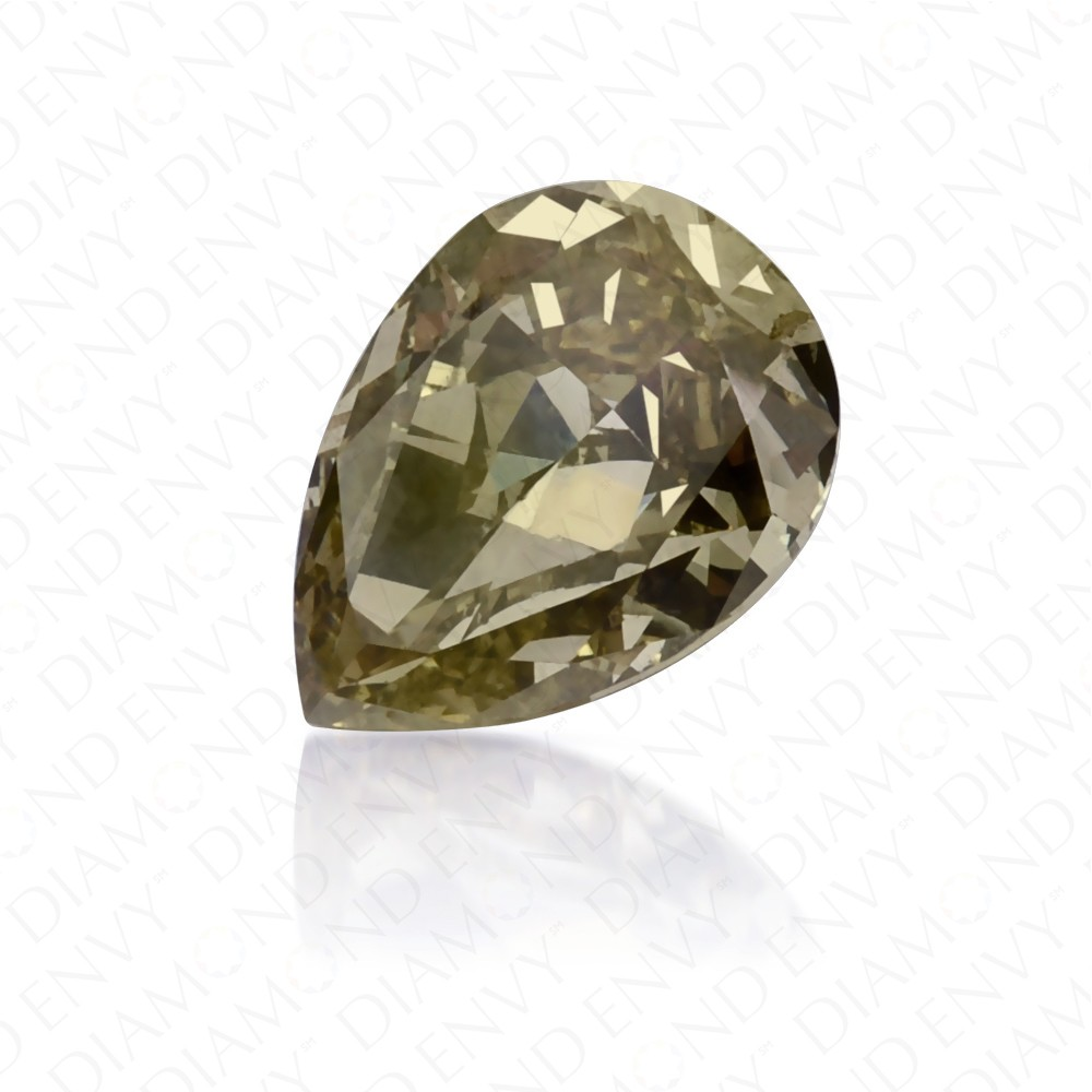 0.50 Carat Pear Shape Fancy Dark Chameleon Diamond