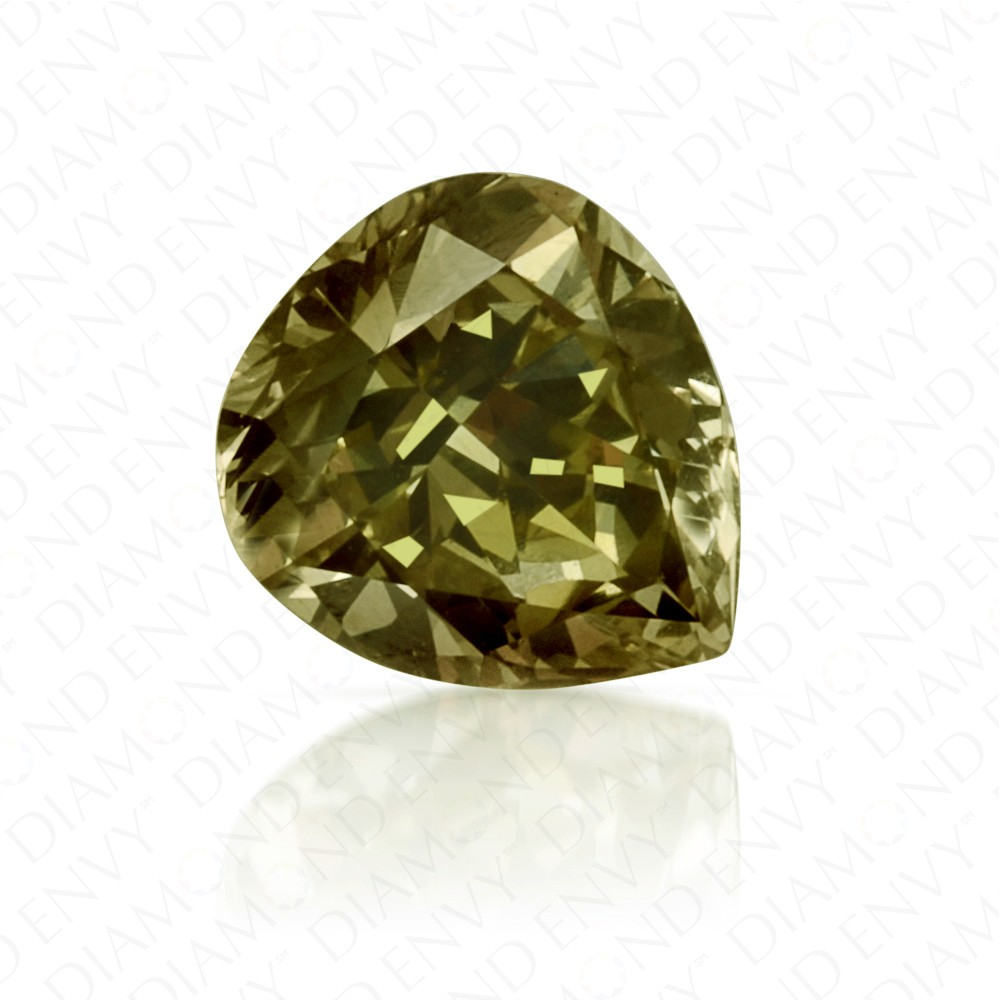 0.47 Carat Pear Shape Fancy Chameleon Diamond
