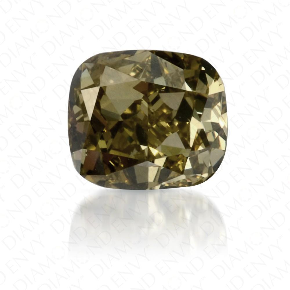 0.41 Carat Cushion Fancy Deep Chameleon Diamond