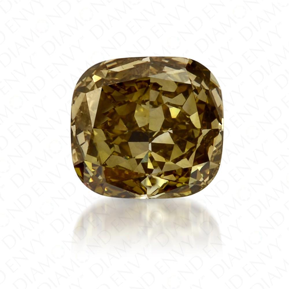 0.46 Carat Cushion Fancy Deep Chameleon Diamond