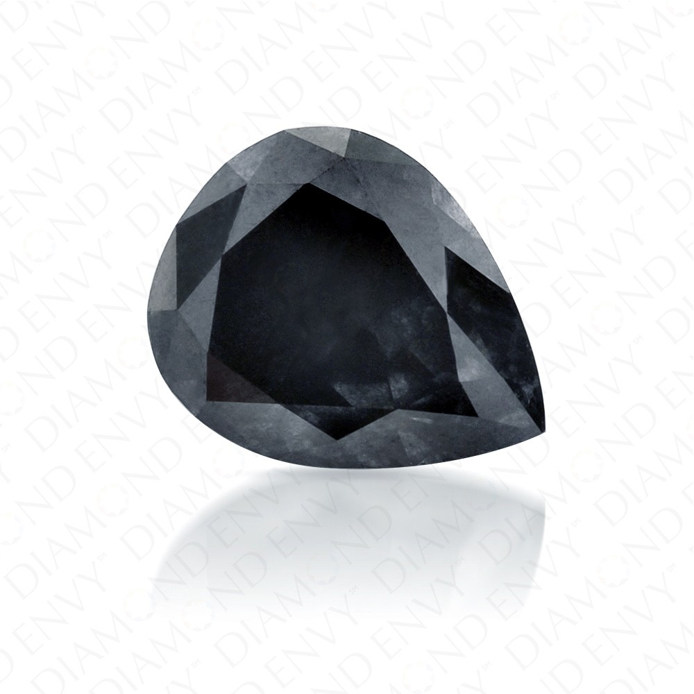 1.16 Carat Pear Shape Natural Fancy Dark Grey Diamond